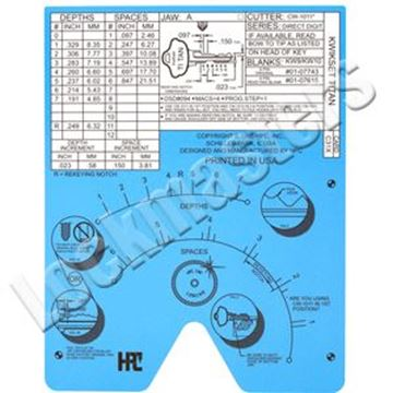 Picture of Blitz & Switch Blitz  Code Card Micrometer A Jaw Metric