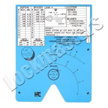 Picture of Blitz & Switch Blitz  Code Card Micrometer B Jaw Inch