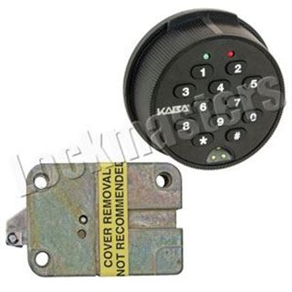 Picture of Kaba Mas Auditcon Model 252 Slide Bolt Lock with Round Keypad