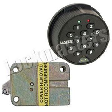 Picture of Kaba Mas Auditcon Model 252 Slide Bolt Lock with Round Keypad