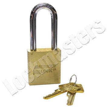 Picture of American A5561 Solid Brass Pin Tumbler Padlock Keyed Alike