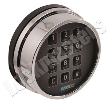 Picture of AMSEC ESL10XL/20XL Electronic Combination Safe Lock  Keypad - Chrome