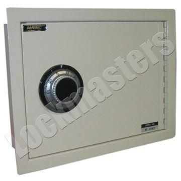"Picture of AMSEC Wall Safe 10"" H x 13-3/4"" W x 3-1/2"" D Steel Body"