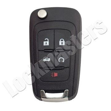Picture of Buick Logo 5 Button Flip Transponder Key Blank 2010 Buick Lacrosse