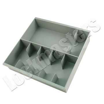 Picture of 6 Compartment Cash Tray, Grey Plastic