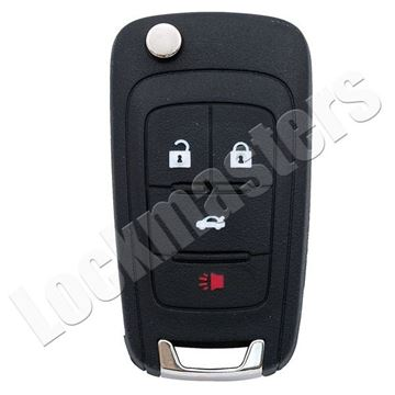 Picture of Chevrolet Logo 4 Button High Security Side Mill Flip Key & Fob