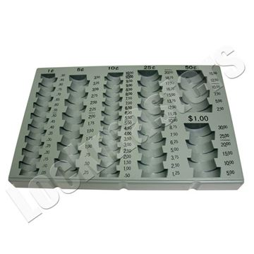 Picture of Cach Drawer Coin Sorter, Grey Plastic