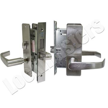 Picture of Corbin Mortise Privacy Lever Lock-Satin Chrome Finish