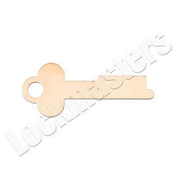 Picture of Diebold Safe Deposit Box 1028L Renter Key Blank (Priced per blank)
