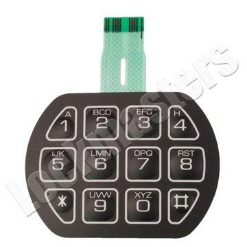 Picture of LaGard Basic II Electronic Safe Lock Part - 3710 Peel & Stick Keypad Membrane