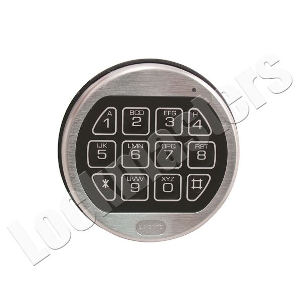 lockmasters lagard combogard pro 39e electronic safe lock part satin chrome keypad lag3750. Black Bedroom Furniture Sets. Home Design Ideas