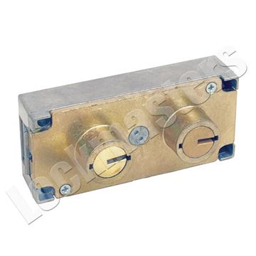 Picture of Bullseye/LeFebure 7750 Series Changeable, Non-Handed, Double Big 1/2 Nose Safe Deposit Lock