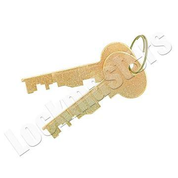 Picture of Bullseye/LeFebure 7750 Series Safe Deposit Lock - Pair of Cut Big Nose Renter Keys