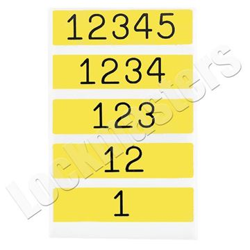 Picture of Diebold Safe Deposit Box Number Gold with Black Letter Adhesive Labels - each