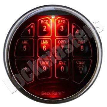 Picture of SecuRam SafeLogic Top Lit Series - Chrome Keypad