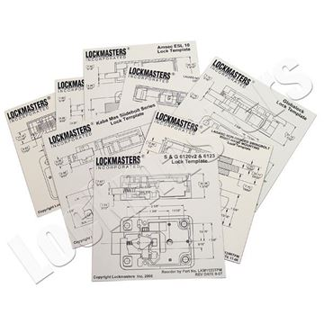 Picture of Complete Set of 22 Mechanical and Electronic Magnetic Drill Templates