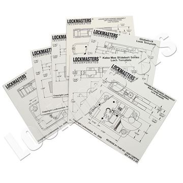 Picture of Complete Set of 21 Electronic Magnetic Drill Templates
