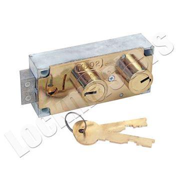 Bullseye LeFebure safe deposit lock image