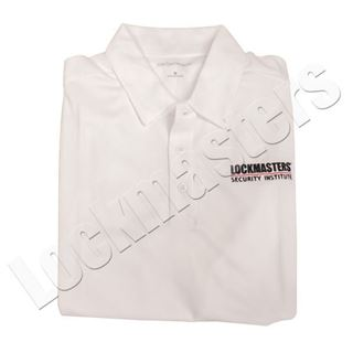 LSI White Logo Performance Polo