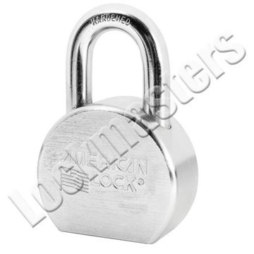 "Picture of American A700 Series Solid Steel Rekeyable Pin Tumbler Padlock 2-1/2' Body with 1-1/16"" Shackle  Keyed Alike"