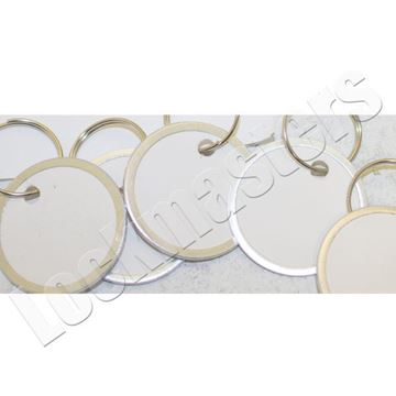 """Picture of 1-1/4"""" Ring White Paper Tags, 25 per Box"""