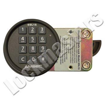 Picture of AMSEC  Electronic Combination Swingbolt Lock - Black Keypad