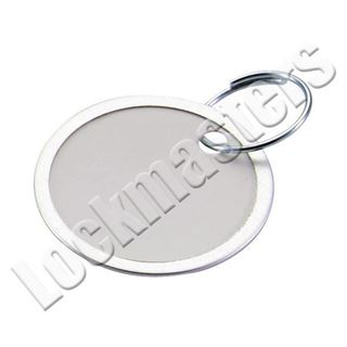 """Picture of 1-/14"""" Paper Tags Key Rings - 50 per box"""