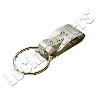 Picture of Lucky Line Secure-A-Clip Belt Key Ring Spring Stainless Steel