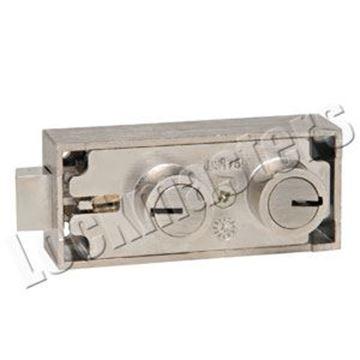 Picture of Bullseye Replacement Safe Deposit Lock for Mosler 3175 -  Aluminum Finish