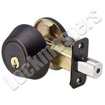 Picture of Master Lock Single Cylinder Deadbolt - Aged Bronze, SC1 Keyway