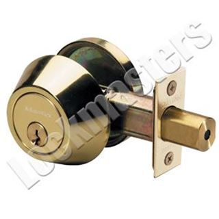 Picture of Master Lock Single Cylinder Deadbolt - Polished Brass, SC1 Keyway