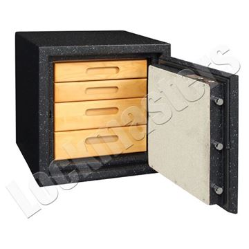 "Picture of AMSEC BF Series 17"" H x 16-1/2"" W x 16"" D Fire & Burglary Safe with AMSEC ESL10 Electronic Lock"
