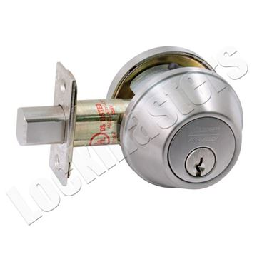 Picture of Arrow Single Cylinder Deadbolt - Satin Stainless Steel, SC1 Keyway