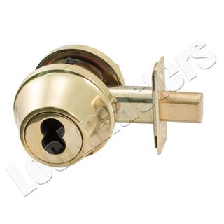 Picture of Arrow Single Cylinder Deadbolt SFIC, Less Core - Bright Brass