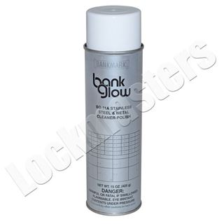 Picture of Bank Glow Stainless Steel Metal Cleaner & Polish 15 oz. Aerosol Can.
