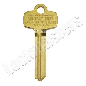 "Picture of Best Original Do Not Duplicate Stamped Key Blank ""D"" Keyway"