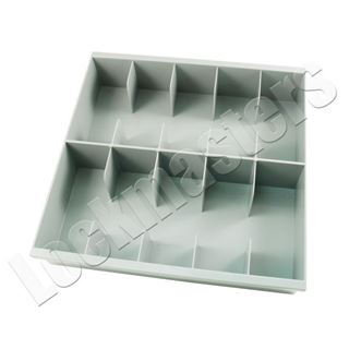 Picture of 10 Compartment Cash Tray, Grey Plastic