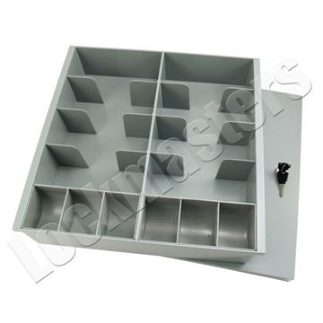 Picture of 10 Compartment Cash Tray with Coin Scoops