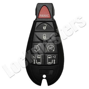 Picture of Chrysler 7 Button (L, U, P, H, PD, PD, RS) FOBIK Remote