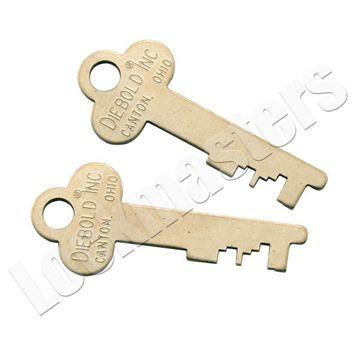 Picture of Diebold 175-70 Safe Deposit Lock Renter Key - 1 Pair