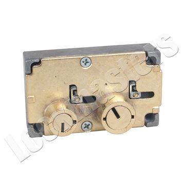 Lockmasters  Diebold Safe Deposit Box Number Gold with Black Letter