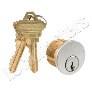 """Picture of GMS Mortise 1"""" Cylinder 5 Pin; Schlage """"C-K"""" Keyway"""