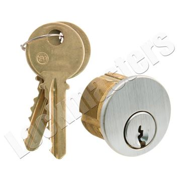 """Picture of GMS Mortise 1"""" Cylinder 5 Pin; Yale """"8"""" Keyway"""