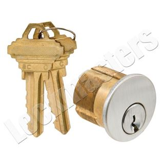 """Picture of GMS Mortise 1-1/8"""" Cylinder 5 Pin; Schlage """"C"""" Keyway"""