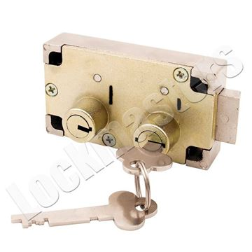 Picture of Guardian 6832 Left Hand Safe Deposit Lock - Brass Finish