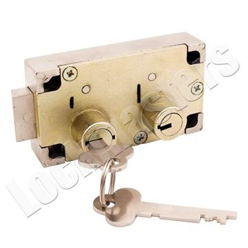 Picture of Guardian 6832 Right Hand Safe Deposit Lock - Brass Finish