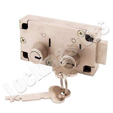 Picture of Guardian 6832 Left Hand Safe Deposit Lock - Nickel Finish