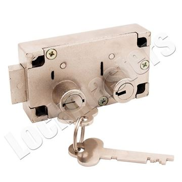 Picture of Guardian 6832 Right Hand Safe Deposit Lock - Nickel Finish