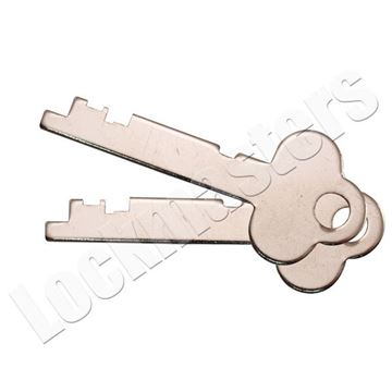 Picture of Guardian 6832 Safe Deposit Renter Key Blanks - 1 Pair