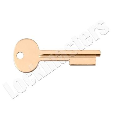 """Picture of Security Corp/Kumahira KD-76 """"D"""" Grooved Renter Key Blank - Price per Blank"""
